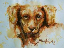 ''Tollerpup''. A5, watercolours 2014 [sold]
