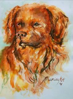 ''Moro''. A5, watercolours 2014 [sold]