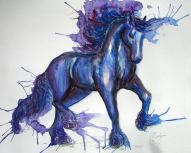 ''Friesian''. A3, watercolours [sold]