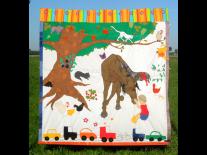 ''Kiril's wereld'' - exclusief design voor Curtain & Co, zie meer op: http://www.gordijnkunst.nl/folio/kirils-wereld-door-maminaart/