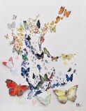 ''Butterfly, flutterby''. A4, watercolours, 2020 [sold]