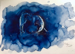 Paard Verzameld Collective ''Bow''.A4, watercolours [sketchbook, not available]
