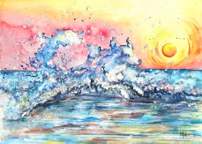 ''Waves of pleasure''. A4, watercolours, 2020 [available]
