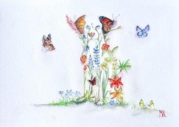 ''Nova Scotia Bloom''. A4, watercolours, 2020 [available]