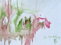 Paard Verzameld Collective meeting 'Paardenkamp I'. A4, watercolours [available]